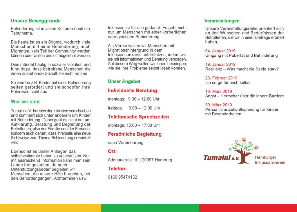 Flyer Tumaini DL 220119-02